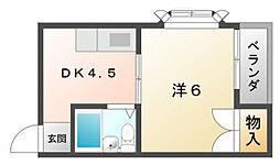 プチシャトー深田[3階]の間取り