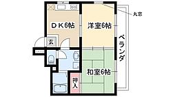 中砂ハイツ[3階]の間取り