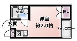 コスモ大和田[2D号室]の間取り