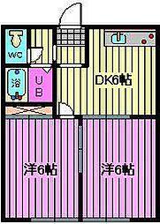 埼玉県さいたま市大宮区三橋2丁目の賃貸アパートの間取り