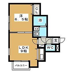 ブランノワール南麻生[3階]の間取り