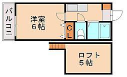 ハイトレジュリーIII[1階]の間取り