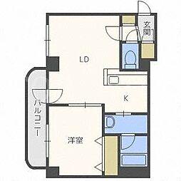 北海道札幌市豊平区美園八条7丁目の賃貸マンションの間取り