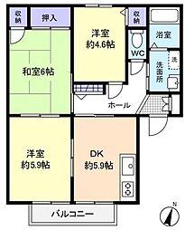 シャーメゾン壱番館[2階]の間取り