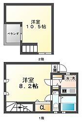 ヌメルスI[3階]の間取り