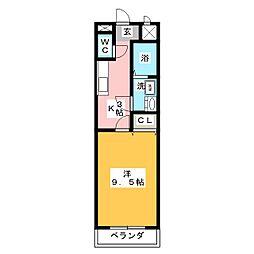ウェルアップ新浜[2階]の間取り