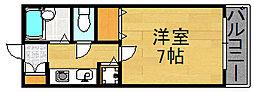 ヒマワリコーポ[207号室]の間取り