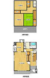 [一戸建] 栃木県宇都宮市錦2丁目 の賃貸【/】の間取り
