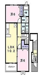 ブラン プレジール B[2階]の間取り