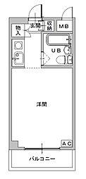 兵庫県姫路市北平野1丁目の賃貸マンションの間取り