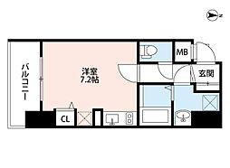 ロイヤルレジデンス北梅田[3階]の間取り