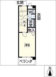 グランパフィオ[6階]の間取り