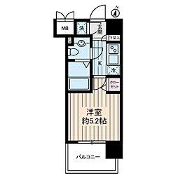 ヴェルステージ川崎[9階]の間取り