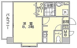 ポートボヌール[4階]の間取り