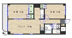 大倉山エステハイツ第3[206号室]の間取り