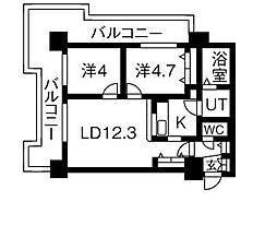 UURコート札幌北三条[210号室]の間取り