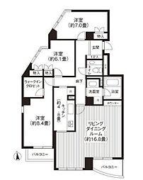 RIS柿の木坂[2階]の間取り