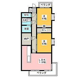 ライオンズマンション東山第2[3階]の間取り