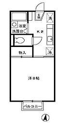オリエントコ−ト[2階]の間取り