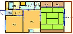パールハイツIMOTO[102号室]の間取り