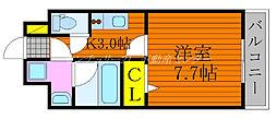 JR吉備線 備前三門駅 徒歩10分の賃貸マンション 5階1Kの間取り