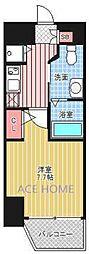 エステムコート南堀江IIICHURA[1001号室号室]の間取り