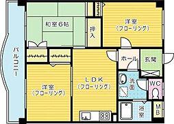 第七泰平ビル[702号室]の間取り