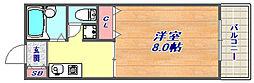 サンハイツ岡本[102号室]の間取り