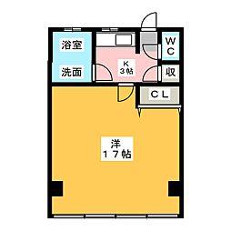 西春オカマンション[5階]の間取り