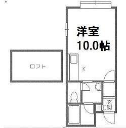 マイハウス前田3[1階]の間取り