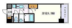 名古屋市営鶴舞線 大須観音駅 徒歩4分の賃貸マンション 10階1Kの間取り