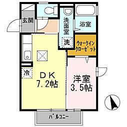 ウィステリア戸塚[1階]の間取り