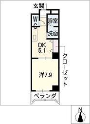 レーベンズプラッツ[4階]の間取り