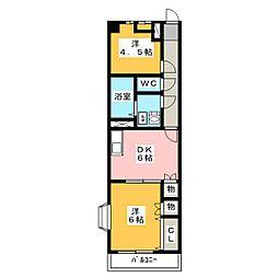 ヒサスイコー天塚II[2階]の間取り