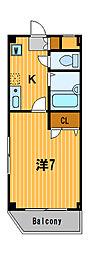 神奈川県川崎市幸区古市場1丁目の賃貸マンションの間取り