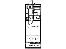 クレセントハイツ富士見[1階]の間取り
