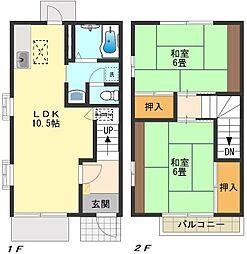 [テラスハウス] 東京都日野市西平山5丁目 の賃貸【東京都 / 日野市】の間取り