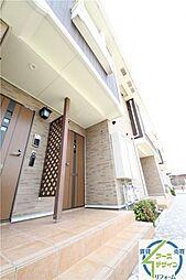 兵庫県明石市大久保町江井島の賃貸アパートの外観