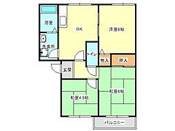 兵庫県神戸市垂水区北舞子4丁目の賃貸アパートの間取り