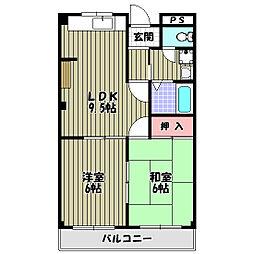 リバーサイドマンション[2階]の間取り