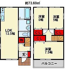 [一戸建] 福岡県北九州市八幡西区香月西2丁目 の賃貸【/】の間取り