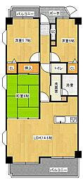 チサンマンション[3階]の間取り
