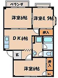 広島県広島市東区上温品2丁目の賃貸アパートの間取り