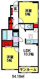 リンデンハウスIII[1階]の間取り