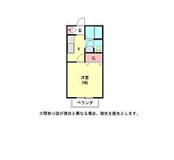 愛知県小牧市大字岩崎の賃貸アパートの間取り