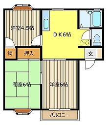 ベルトリーC[1階]の間取り