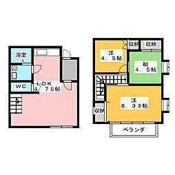 [一戸建] 栃木県宇都宮市緑4丁目 の賃貸【/】の間取り