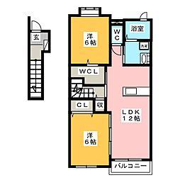 アビターレ ベッシェ 6[2階]の間取り