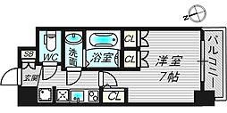 アルティザ淡路駅東 4階1Kの間取り