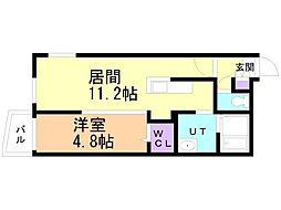 仮)サリーレ新札幌B 4階1LDKの間取り